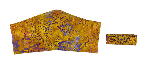 Autumn Leaves Fitted Masks