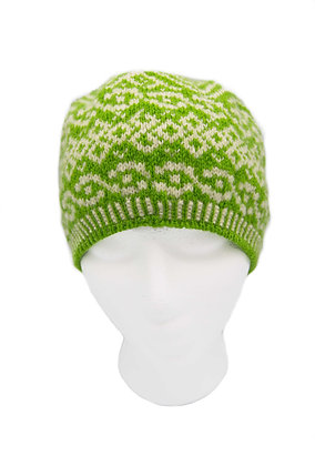 Green/White Hat
