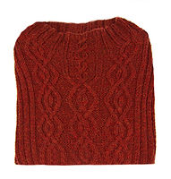 Knit orange/rust colored patterned sweater, adult size