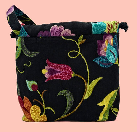 Customizable Floral Project/Tote Bag