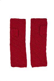 Knit Red fingerless gloves