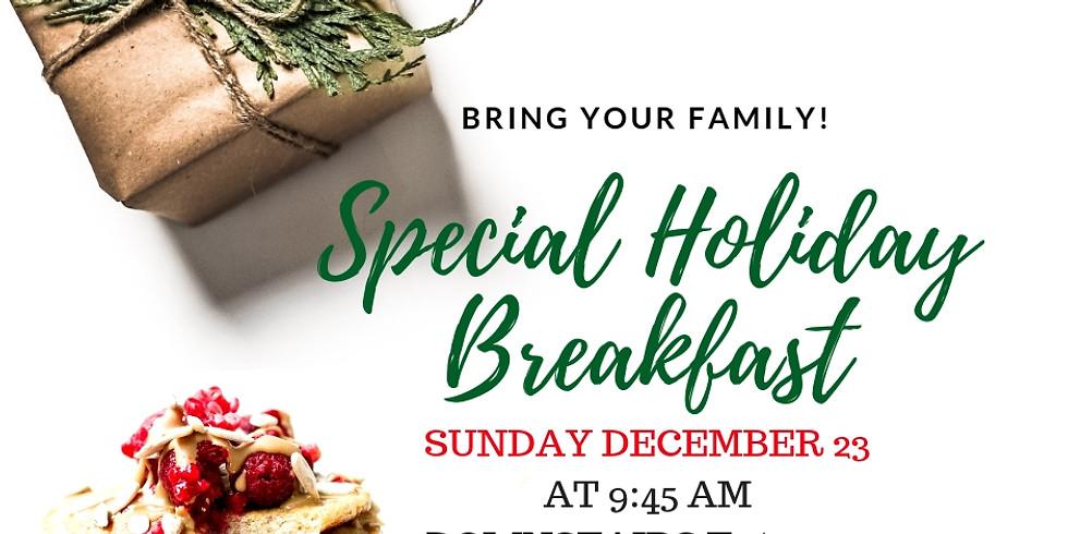 Special Holiday Breakfast