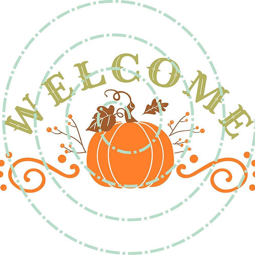 Welcome Pumpkin (Personalized)