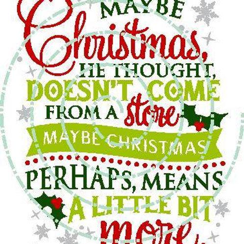 Maybe Christmas...
