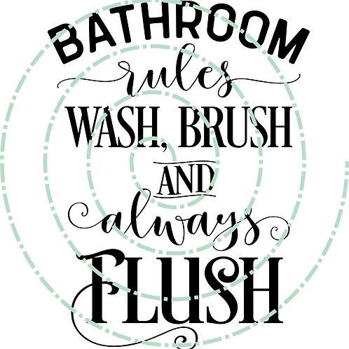 Bathroom Rules 2