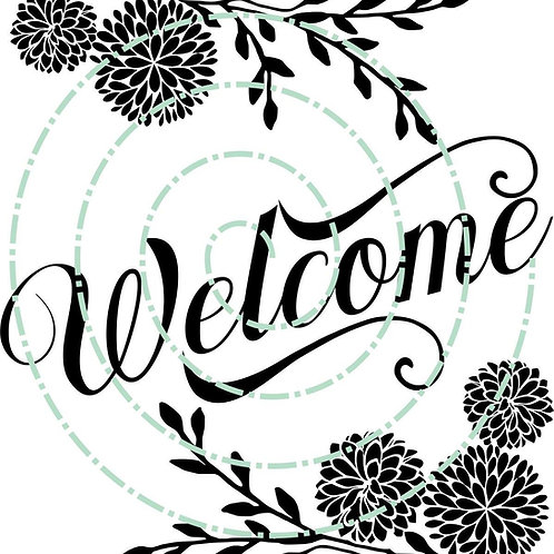 Welcome with Flowers