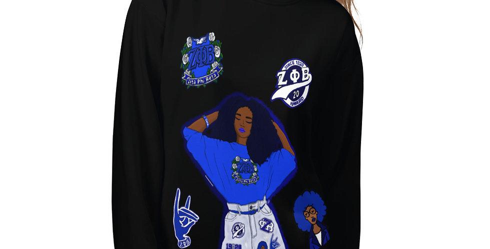 Zeta Centennial Sweatshirt (Plain)