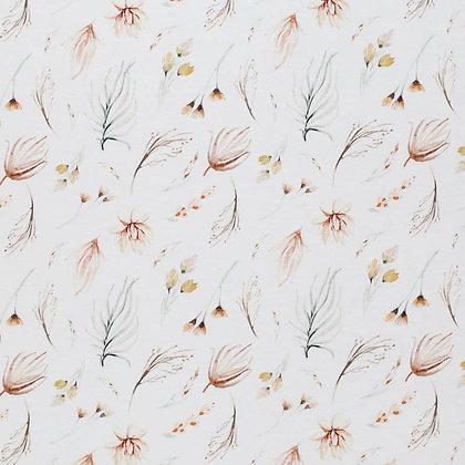 Reststück Baumwollstoff/ Webware Boho Bohemian Floral
