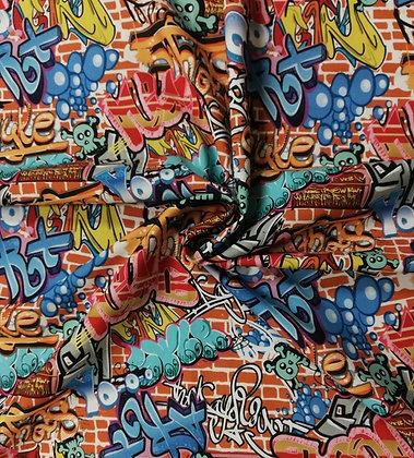 Baumwollstoff/ Webware Graffiti