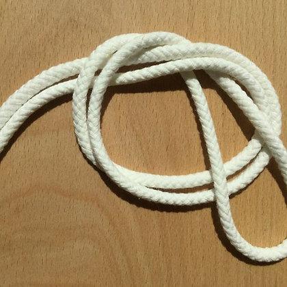 Baumwollkordel doppelt gewebt Weiß