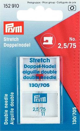 Zwillingsnadeln Prym Strech 2,5 mm