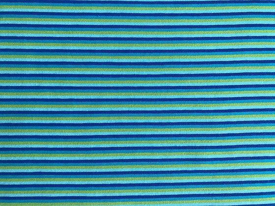 Jersey Streifen Blau/Grün