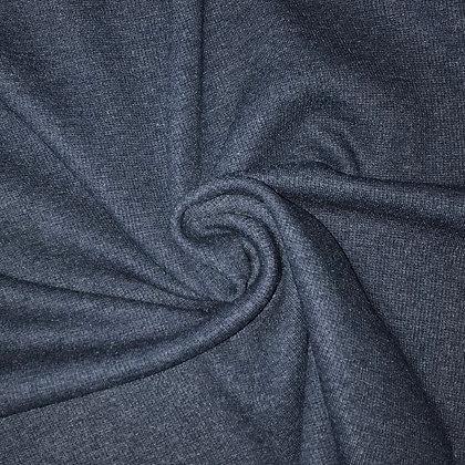 Feinrippbündchen Blau meliert (Jeans)