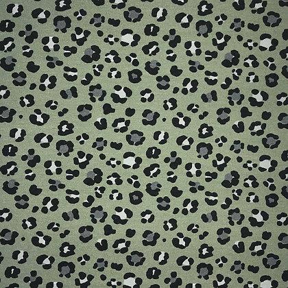 Reststück Sommersweat Leopardenmuster grün