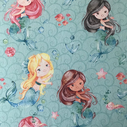 Sommersweat Meerjungfrauen Türkis