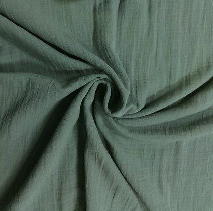 Musselin Dunkel Altgrün
