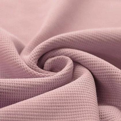 Waffelstrick Jersey Nude Pink