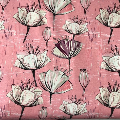 Sommersweat Mohnblumen Rosa