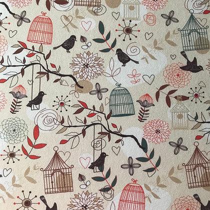 Reststück Sommersweat Vogelkäfig