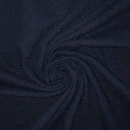 Musselin Marineblau