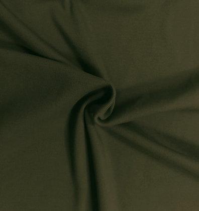 Feinrippbündchen Khaki