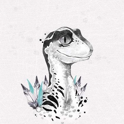 Sommersweat Panel Dino