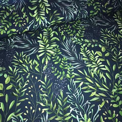 Jersey Blätterzweige Dunkelblau
