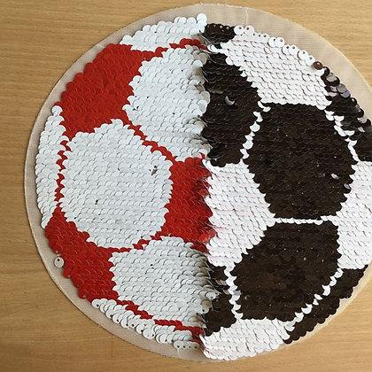 Wendepailletten Fußball Schwarz/Weiß/Rot