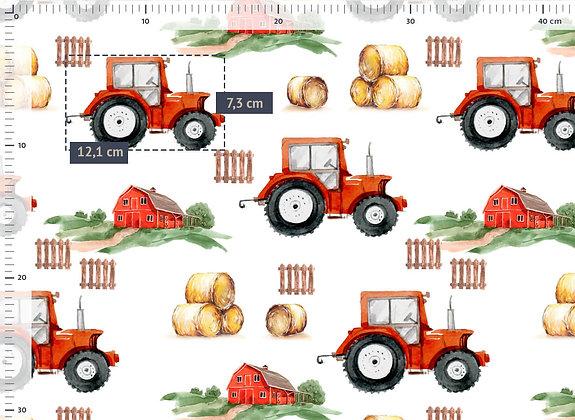 Jersey Traktor auf der Farm