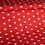 Thumbnail: Baumwollstoff/ Webware Rot mit Weißen Sternen