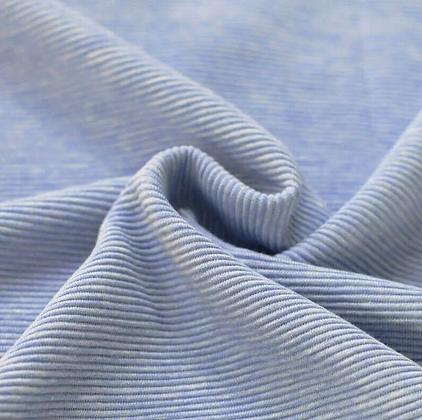 Reststück Rib Jersey Ottoman Jeans Blau meliert