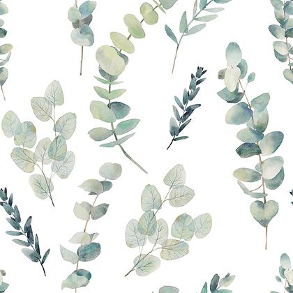Jersey Blätterzweige Aquarell