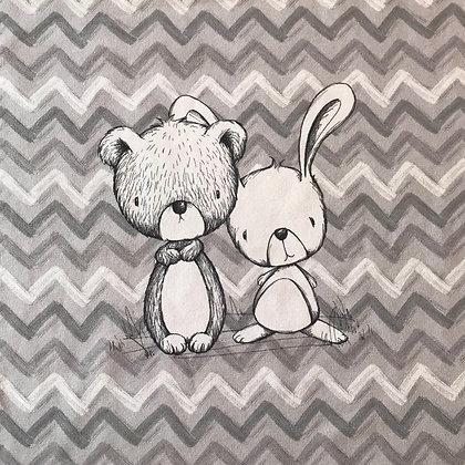 Sommersweat Panel Babytiere