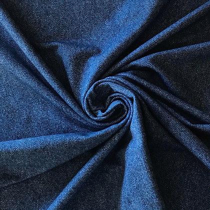 Sommersweat Digitaldruck Jeans Blau