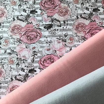 Jersey Rosen auf grauen Streifen