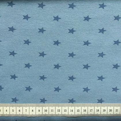 Bündchen Hellblau mit Sternen