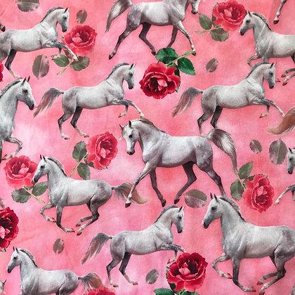 Jersey Digitaldruck Horses & Roses