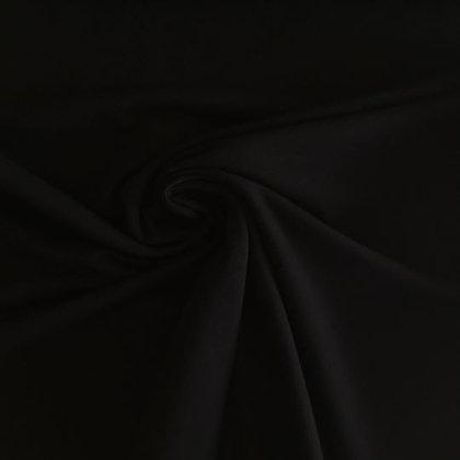 Feinrippbündchen Schwarz