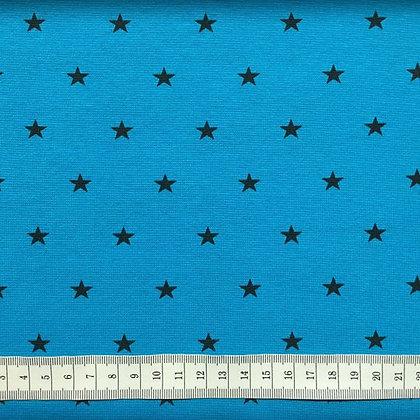 Bündchen Sterne Aqua