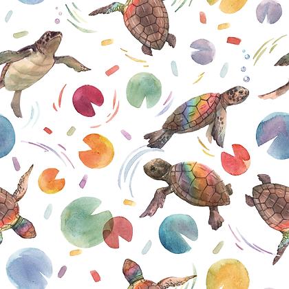 Jersey bunte Schildkröten Aquarell