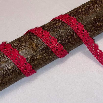 Spitzenband 15mm breit Fuchsia