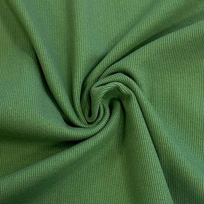 Feinrippbündchen Grasgrün