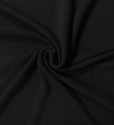 Strickstoff Baby Knit Schwarz
