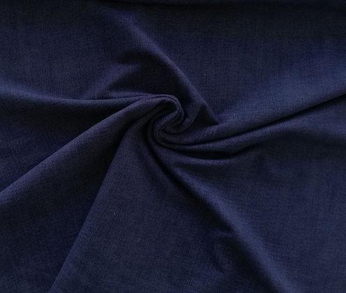 Sommersweat Digitaldruck Jeans Mittelblau