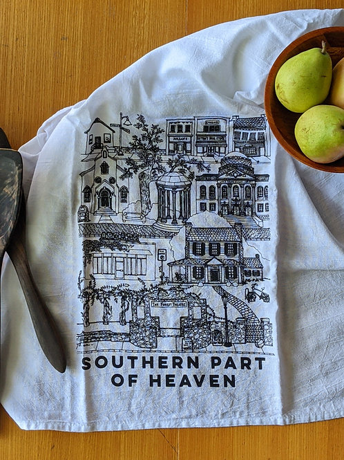 Chapel Hill cotton tea towel