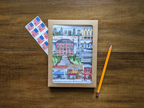NC State, Raleigh NC, five pack greeting cards