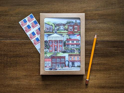 Hillsborough, NC five-pack greeting cards