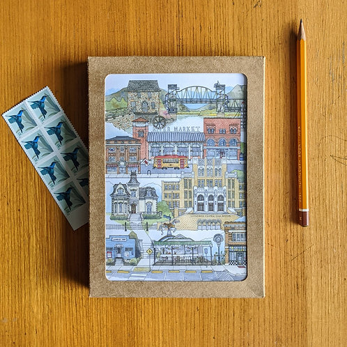 Little Rock, AR five-pack greeting cards