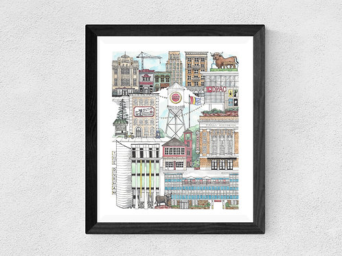 Downtown Durham North Carolina Print