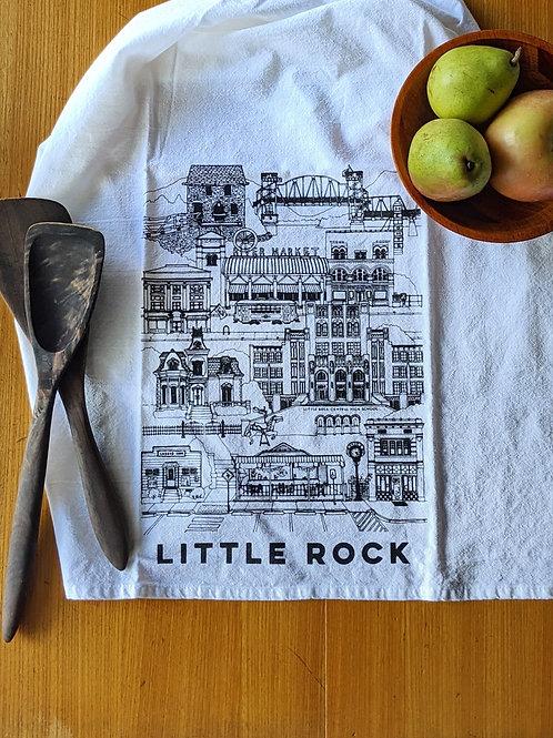 Little Rock cotton tea towel